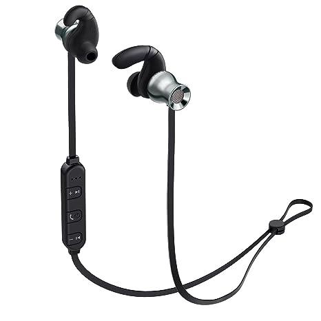 AUKEY Cuffie Bluetooth Wireless Sport Auricolare Magnetiche Metallico  Stereo con Microfono 7c72c4a39e11