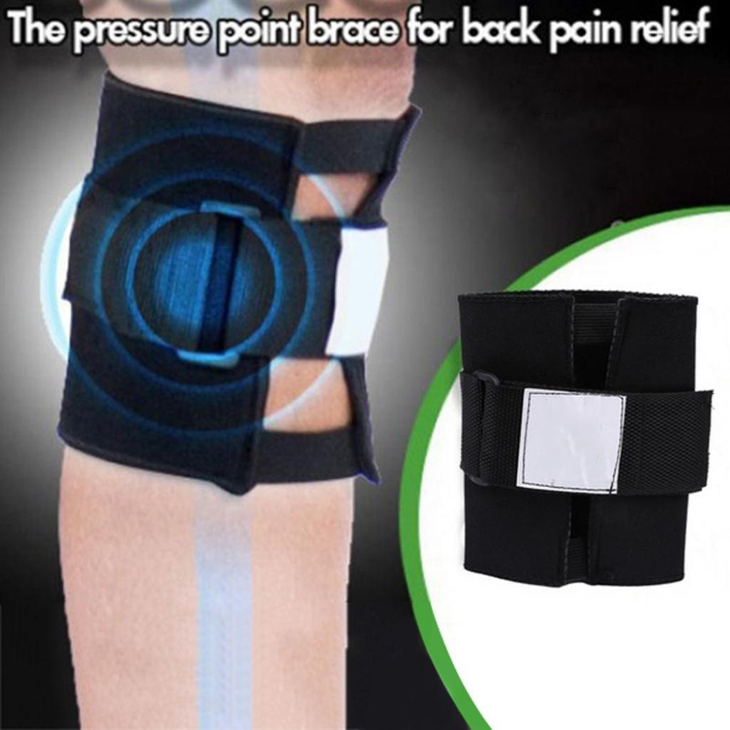 Pressure Point Back Pain Relief Acupressure Sciatic Nerve Leg Knee Brace Support - Black geshiintel