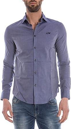 ARMANI JEANS AJ - Camisa Hombre C6C20NV BLU S: Amazon.es: Ropa y accesorios