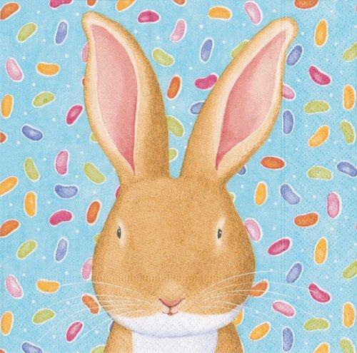 Luncheon NapkinsペーパーナプキンイースターパーティーEaster Egg Hunt WabbitブルーEaster Bunnies Pack of 40 ブルー 13650L-2PK B01MU4TRMJ  2