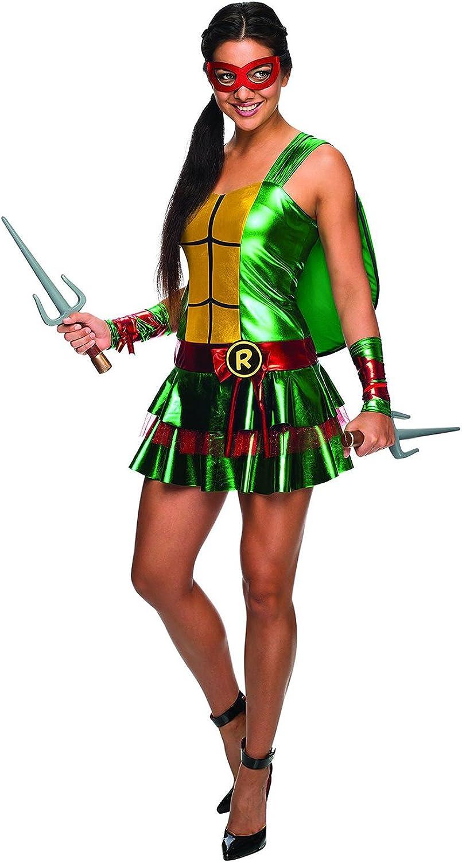 Amazon.com: Ninja Turtle Adult Costume Raphael - Red - Large ...
