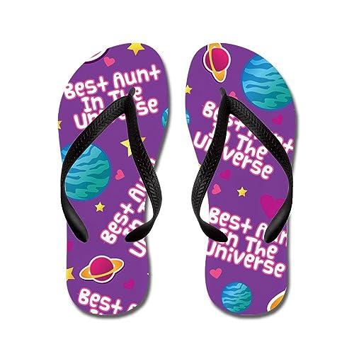 fb0296ddfa7f CafePress - Best Aunt in The Universe - Flip Flops