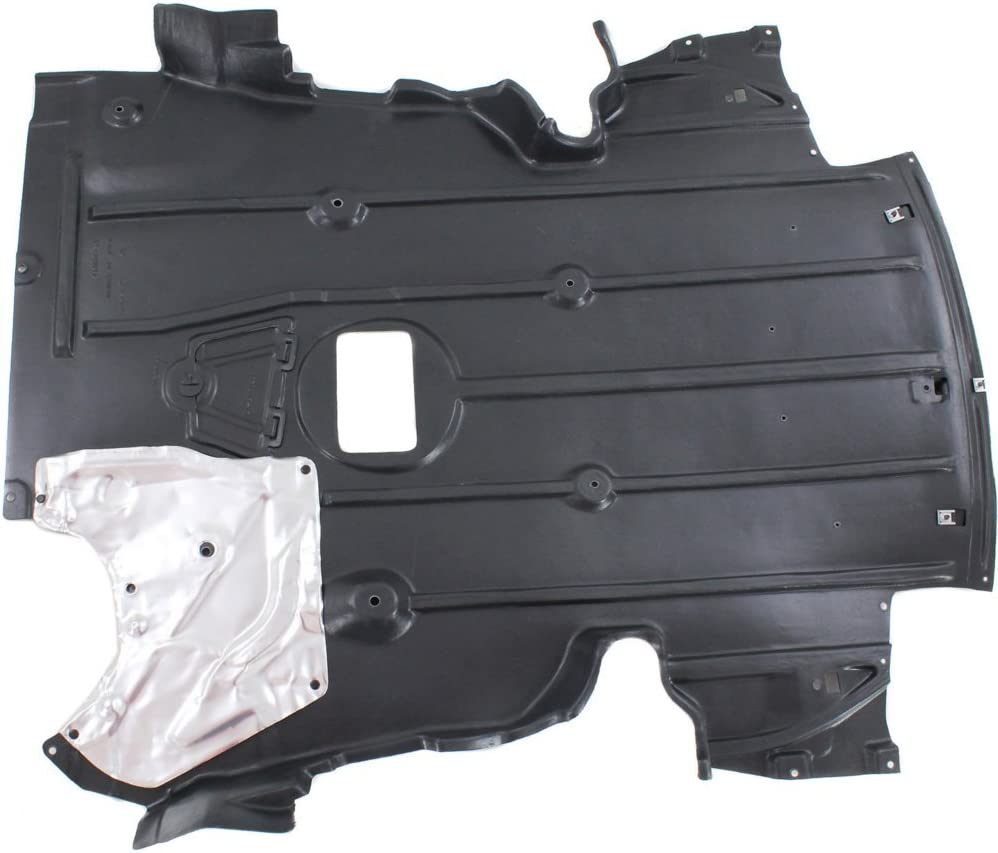 Engine Splash Shield compatible with BMW 3-Series 07-13 Under Cover FrontW//Alum Pad3.0L EngW//M Pkg AWD//RWD Coupe