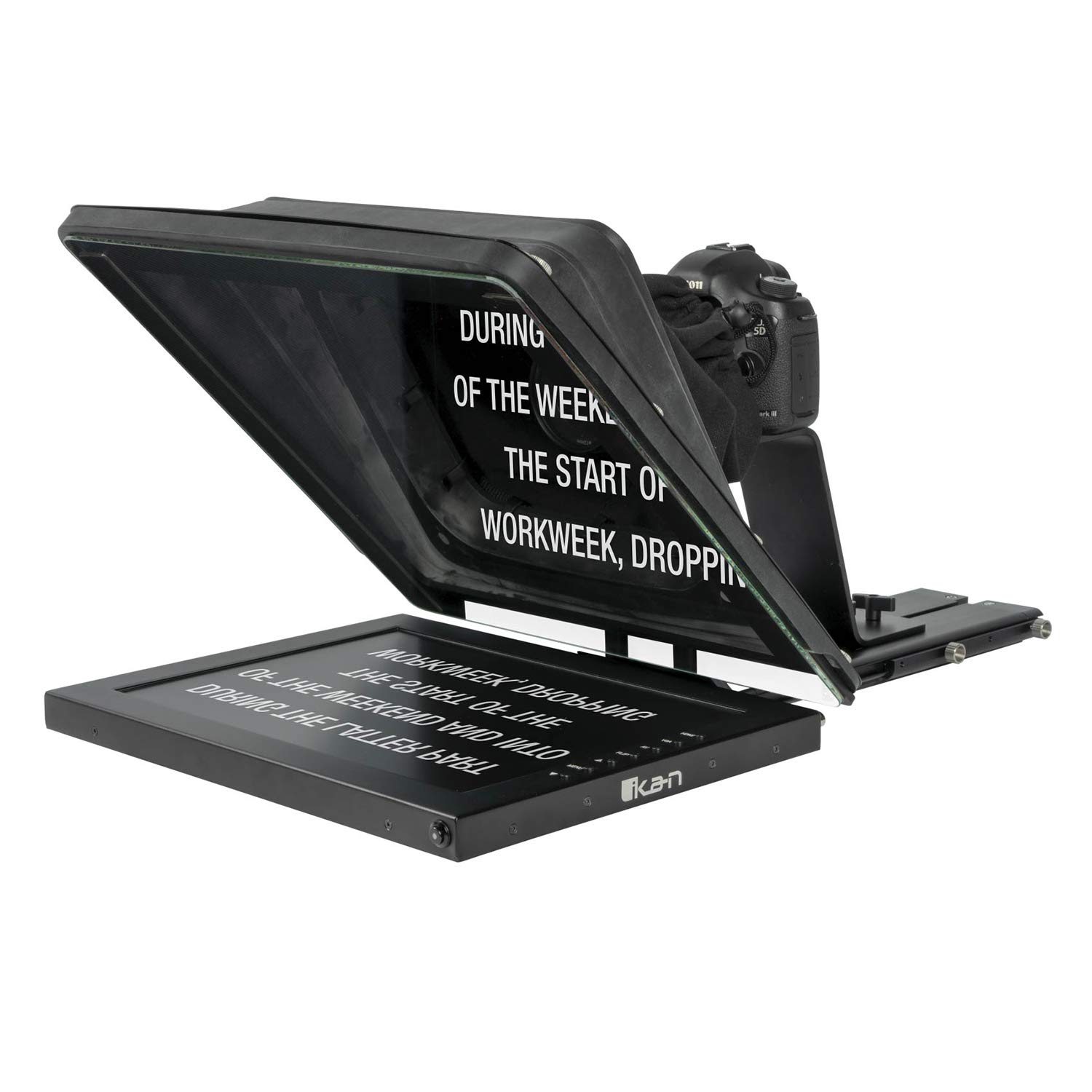Ikan Professional 15 Inch High Bright Beam Splitter 70/30 Glass Teleprompter (PT4500)