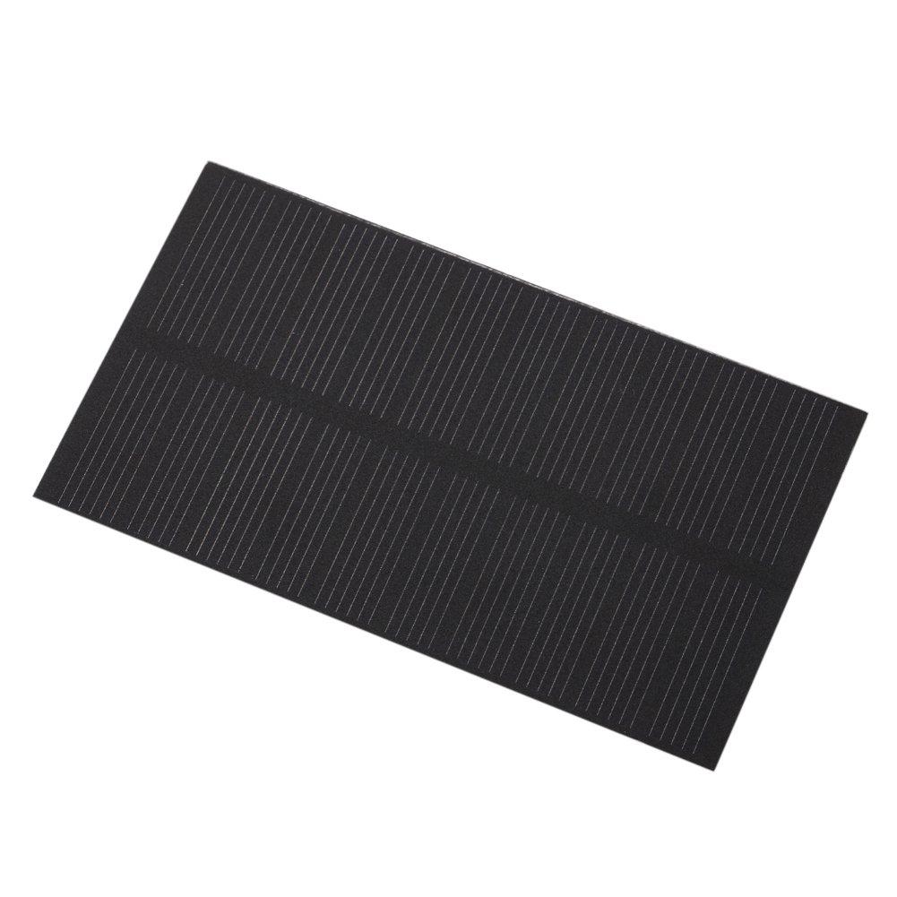 Zerodis Panel Solar Mini portá til DIY Mó dulo de Panel Solar Monocristalino del Cargador del Panel Solar 5V 1W para Muchos Tipos de Pequeñ os Electrodomé sticos, Luces de Emergencia, Luces Publicitarias