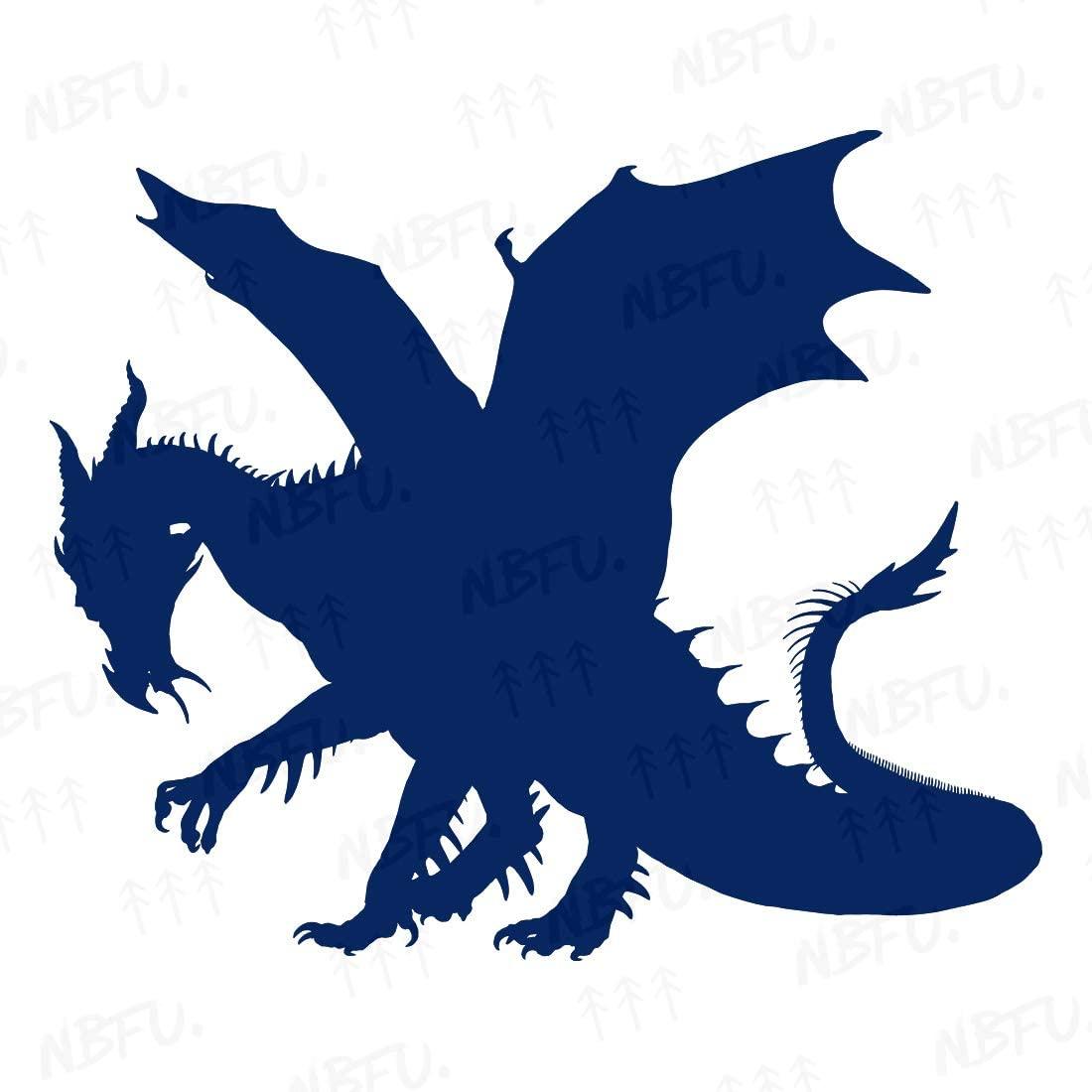 NBFU Decals Dragon Silhouettes 6 (Navy Blue) (Set of 2) Premium Waterproof Vinyl Decal Stickers for Laptop Phone Accessory Helmet Car Window Bumper Mug Tuber Cup Door Wall Decoration