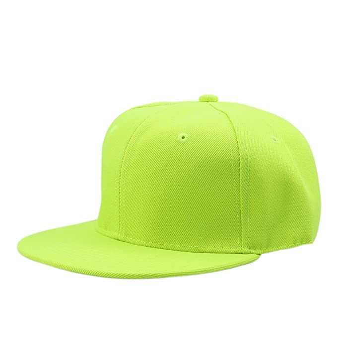 043ff7aff71 Image Unavailable. Image not available for. Colour  LAYs Blank Plain  Baseball Cap Adjustable Unisex Hip-Hop Snapback Hat (Fluorescent Yellow)