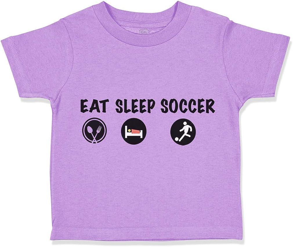 Custom Toddler T-Shirt East Sleep Soccer Sport Cotton Boy /& Girl Clothes