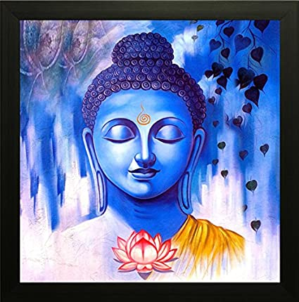 SAF Buddha Exclusive Framed Wall Art Painting (Wood, 30 cm x 3 cm x ...