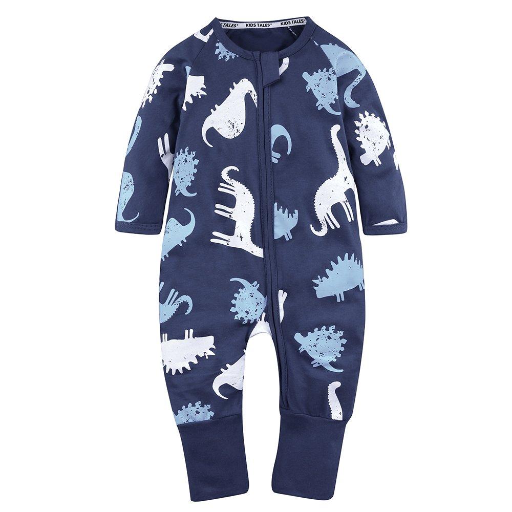 Kids Tales Baby Handed Footed Zipper Pajama Sleeper Cotton Romper(Size 4M-3T) Fuzhou Shang Ku Trade Co. Ltd.