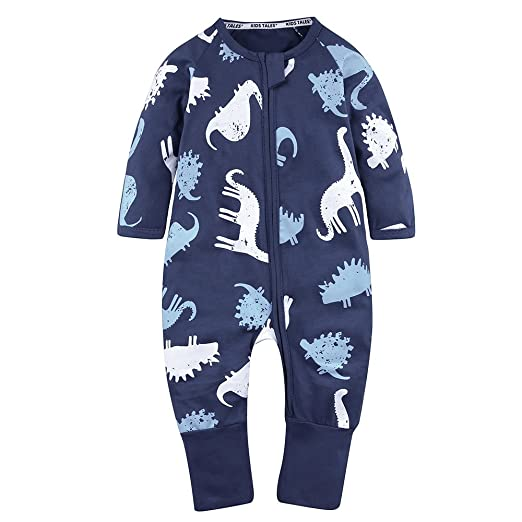 a095f5397 Amazon.com  Kids Tales Baby Boys Pineapple Footed Zipper Pajama ...