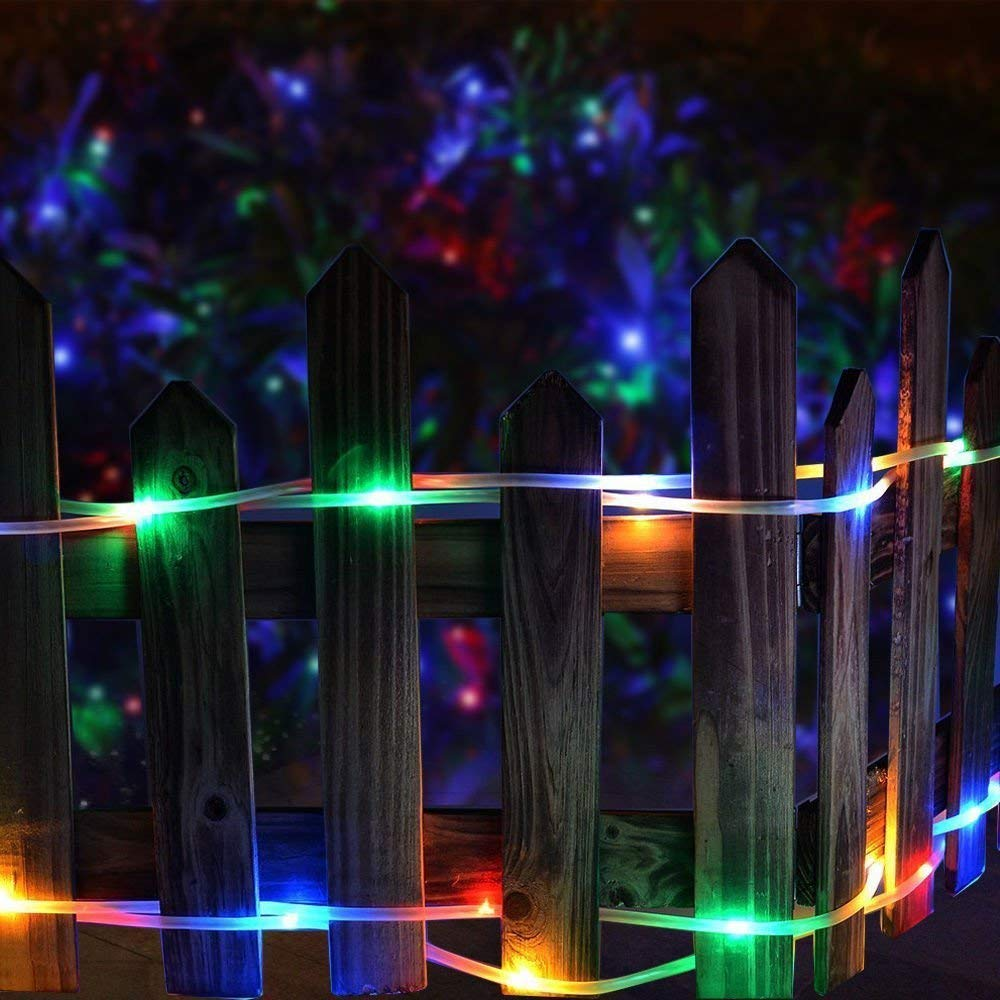 39ft 100LED LED Rope Lighting Waterproof Copper Wire Rope String Light for Christmas Home Garden Patio Parties Decor WONFAST Solar Rope Lights Outdoor 1-Blue