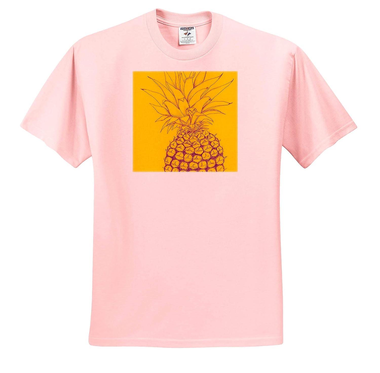 Tropical Adult T-Shirt XL 3dRose Amanda Levermann ts/_319888 Colorful Pineapple