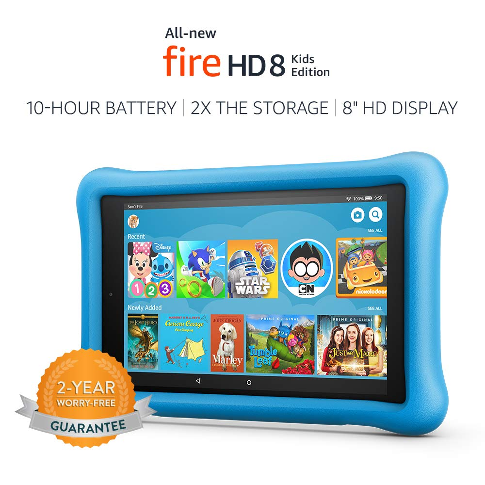 Amazon Fire HD 8 Kids Edition Tablet - Blue, 32GB