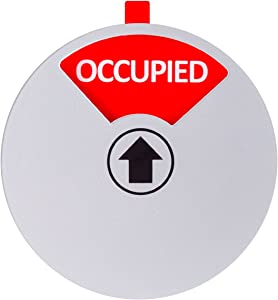 Kichwit Privacy Sign for Offices or Homes - Do Not Disturb Sign, Restroom Sign, Office Sign, Conference Sign, Vacant Sign, Occupied Sign - Tells Whether Rooms are Vacant or Occupied, 4 Inch, Silver
