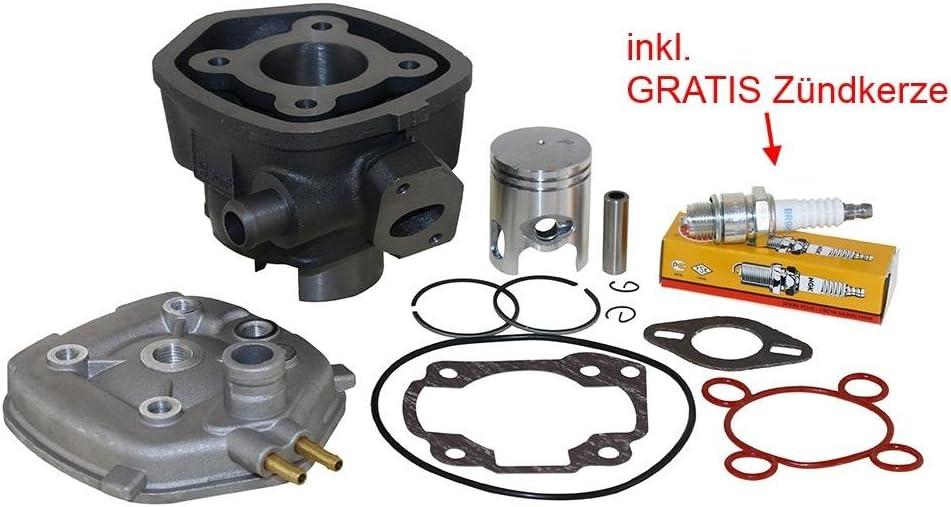 50ccm Zylinder Kit Inkl Zylinderkopf Zündkerze Ngk Br8hs Für Aprilia Sr50 Yamaha Aerox Jog Mbk Nitro Malaguti F12 F15 Auto