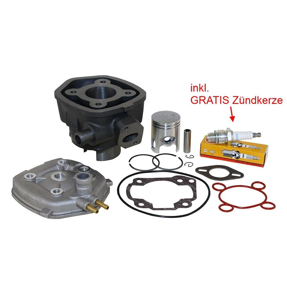 50ccm Zylinder Kit inkl. Zylinderkopf, Aprilia, Yamaha Aerox, MBK, Italjet, Malaguti Citomerx