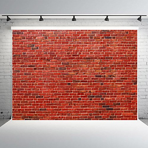 7x5ft Red Brick Wall Photography Backdrops Vinyl Regular Block Texture Photo Background Studio Props Events Decoration