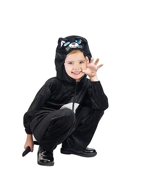 prezzo moderato vasta selezione di disegni attraenti F126 Costume da Gatto Nero Taglia 4-5 Anni, Costume Costumi per Bambini  Ragazzi Ragazze, per il Carnevale, adatto anche come regalo di compleanno o  di ...
