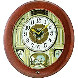 Seiko QXM539BRH Melodies In Motion Japanese Quartz Wall Clock