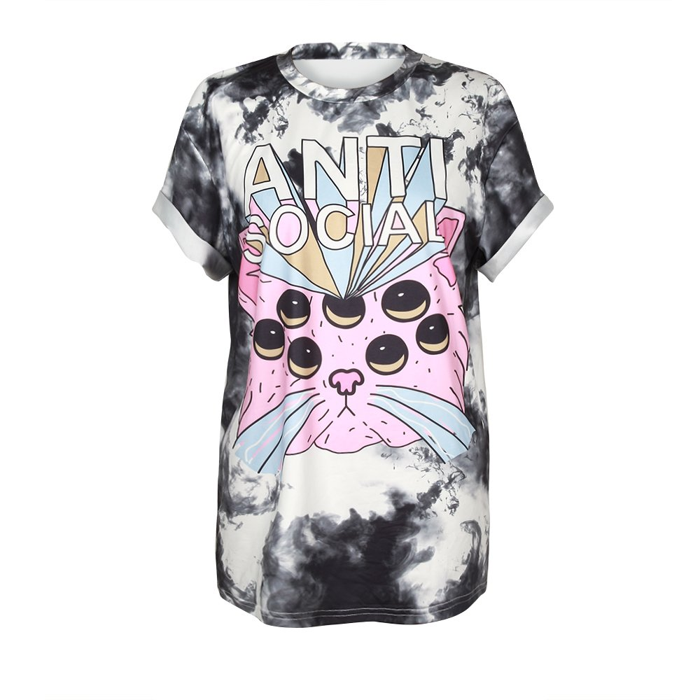 URVIP Unisex Halloween 3D Printed Short Sleeve Summer Casual Cool T-Shirts Fashion Couple Top Tees BAM-004 L/XL