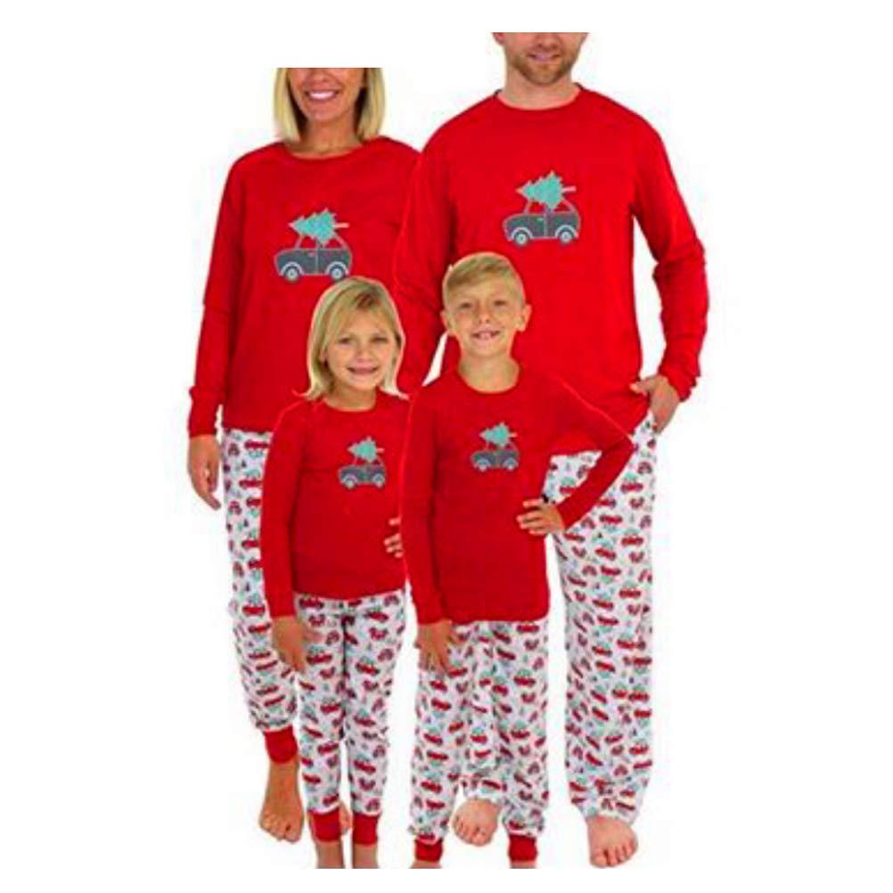 Abuyall Matching Christmas Pajamas Sleepwear Sets for The Family