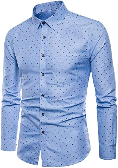 Camisas Casual Hombre Manga Larga, Covermason Blusa Formal de Manga Larga Oxford para Hombre: Amazon.es: Ropa y accesorios