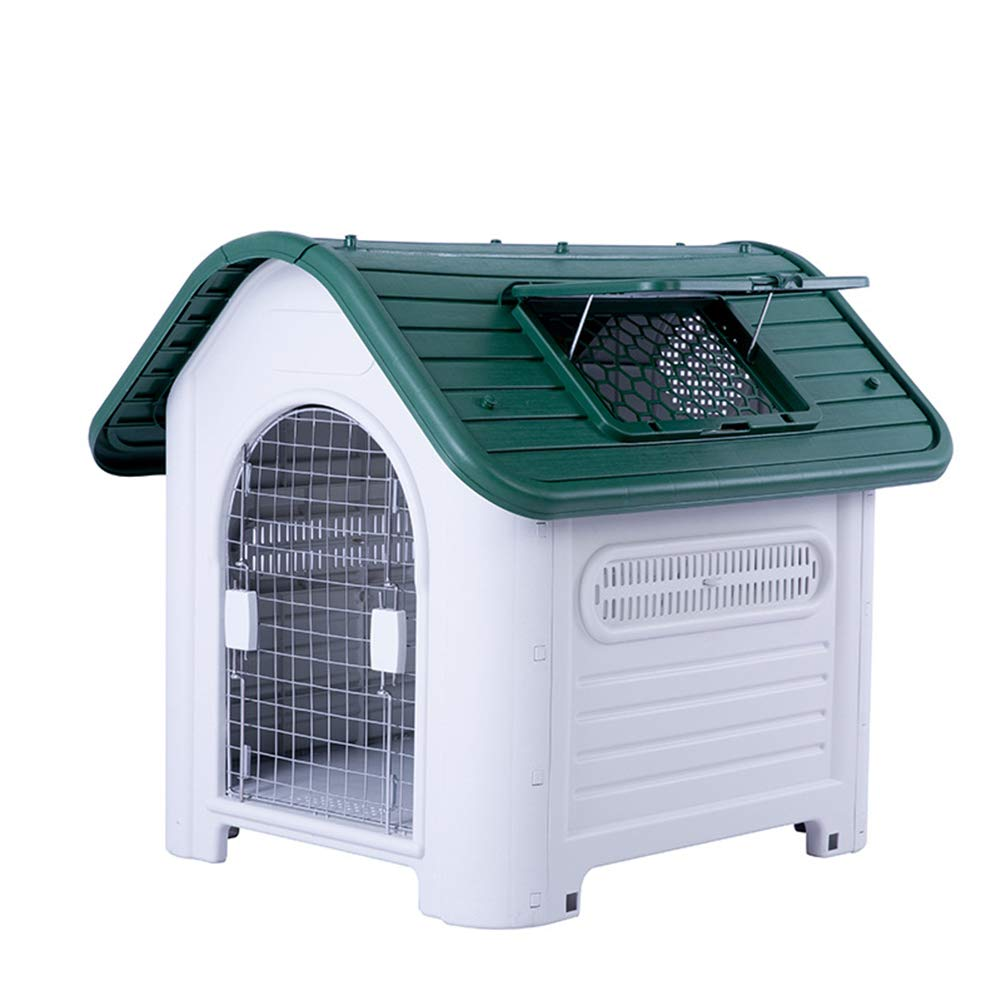 Green Large Dog Kennel,Indoor Outdoor Dog,Kennel,Warm Windproof Dog Kennel,Keep Your Pets Safe Dog House,Shed Home for Dogs,Big Dog Small Dog,Cat House,Feeding Kennel