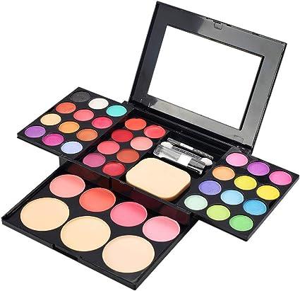 Paleta de Sombras de Ojos 39 Colores de Estuche de Maquillaje Set Kit de alta Calidad Cosmético - Incluye Polvo de Rubor y Polvos Compactos y Brillo Labios Impermeable Mate Eyeshadow (Multicolor):