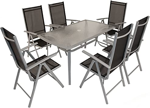LD Siège Groupe Aluminium Salon de Jardin Aluminium Chaise ...