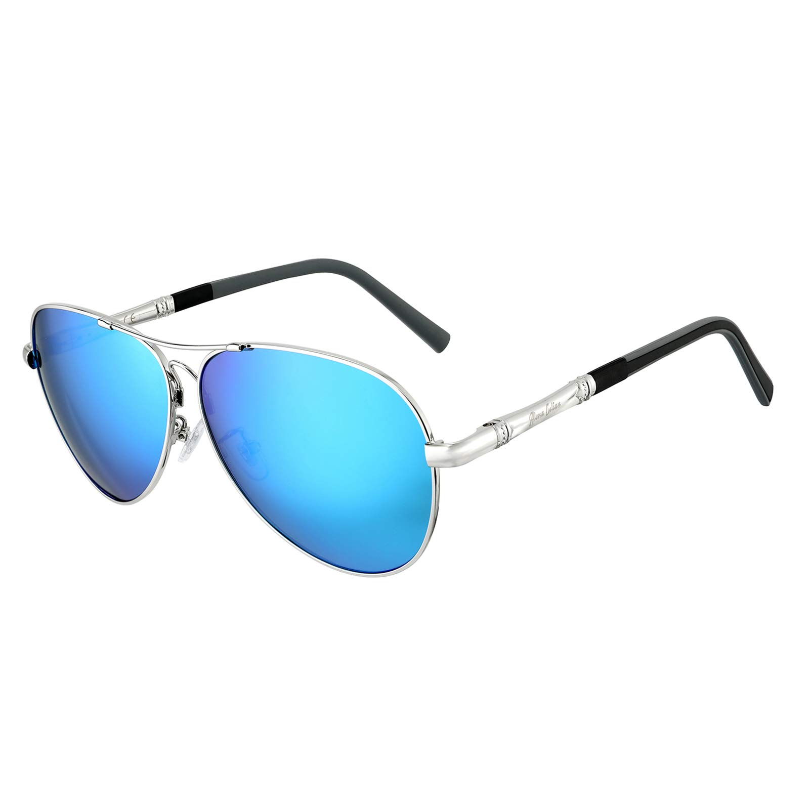 Aviator Polarized Sunglasses for Men and Women Semi-Rimless Frame Driving Mirrored Lens