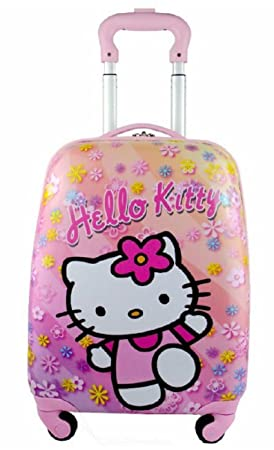 Image Unavailable. Image not available for. Colour  Children Kids Holiday  Travel Character Suitcase Luggage Trolley Bags 18 quot  Hello Kitty Flower 7af0436fe0