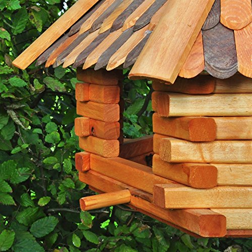 Vogelh/äuschen insg VOSS.garden Vogelhaus XXL Herbstlaub 70cm Durchmesser inklusive gro/ßem Standfu/ß 1,45 Hoch Vogelfutterstation