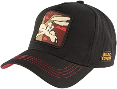 Capslab Gorras Looney Tunes Cayote Black/Maroon Adjustable: Amazon ...