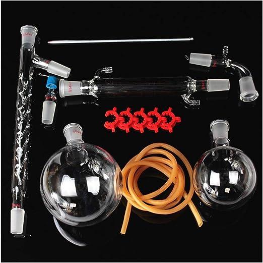 Sucastle 1000ml 13pzas Glass Destilación Aparato de Filtro Química cristalería de Laboratorio Kit químico del Agua ...