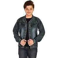 Softy Jeans Denim Ripped Black Fullsleeve Jacket