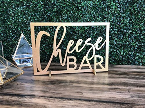 Amazon.com: Cheese Bar Wood Sign || cheese table sign bridal shower ...