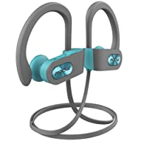 Bluetooth Headphones Mpow Flame Wireless Sport Headphones IPX7 Sweatproof, HiFi Stereo Earbuds w/Curve Ear Hook, CVC Noise Cancellation, 1.5-Hr Fast Charge, Perfect for Gym and Running Workout- Green