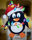 Stickers4 Christmas Penguin Double-Sided Window Cling - Seasonal Window Decorations by (Small)