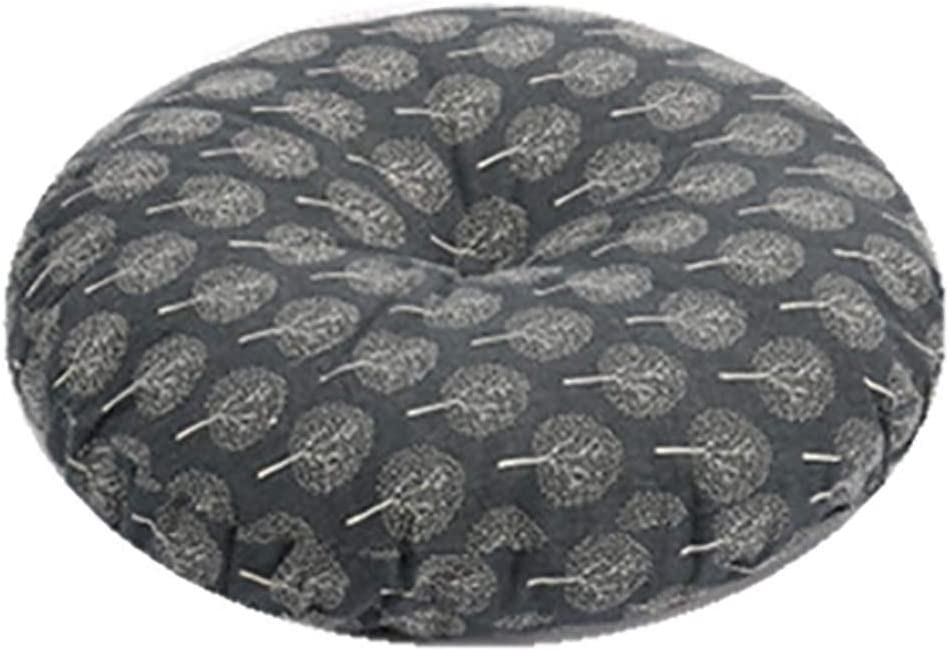 Barm Round Extra Thick Chair Cushion,Linen Lumbar Pillow Seat Cushion Tatami Floor Seat Pads for Home Office Chair Pads-a Diameter:70cm(28inch)