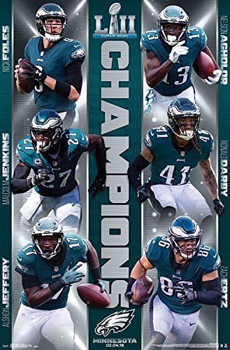 Philadelphia Eagles - Superbowl Champions - NFL Poster 22 x 34 - NEW
