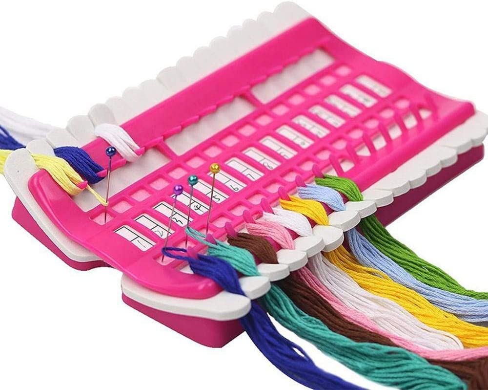 Embroidery Floss Thread Organizer Sewing Tools 30 Holes Needles Holder DIY