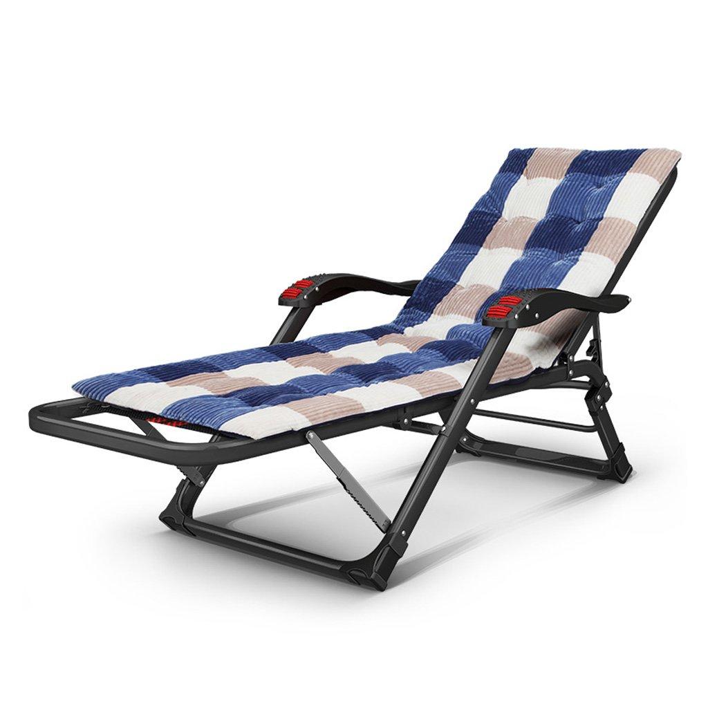 Mei Xu ラウンジチェア リクライナー折り畳み式折り畳み式ベッド1ベッドシエスタベッドの家庭用オールドマンアダルトキャンプベッドシンプル 調節可能な折りたたみ椅子 (色 : B) B07MP9V9G8 B