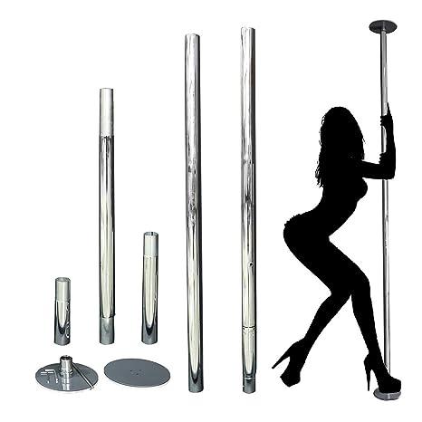 HETHRONE Pole Dance Barra de baile profesional giratoria fija de 45 mm y 1.5 mm de grosor. Estática y giratoria