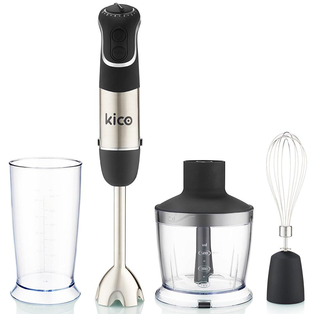 Kico Hand Blender Set, 850 Watt Immersion Blender, Powerful 7-Speed Stick Blender