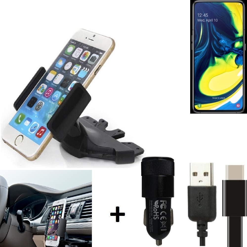 K-S-Trade® Top Set para Samsung Galaxy A80 Soporte Ranura De CD ...