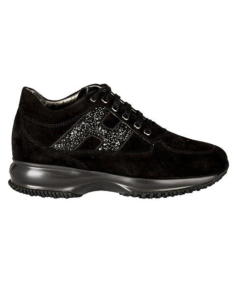 Hogan Sneakers Donna HXW00N0S3609KEB999 Camoscio Nero  Amazon.it  Scarpe e  borse f71c7e79fa5