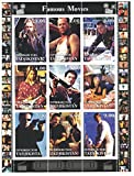 Stamps for collectors - Movie perforfated stamp sheet featuring Die Hard / Bridget Jone's Diary / Pulp Fiction / Matrix / Jackie Brown