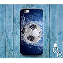 *BoutiqueHouse* iPhone 4 4s 5 5s 5c SE 6 6s plus iPod Touch 4th 5th 6th Generation Water Splash Wet Soccer Ball Cool Phone Cover Cute Futbol Sport Fun Case(Samsung Galaxy S6)