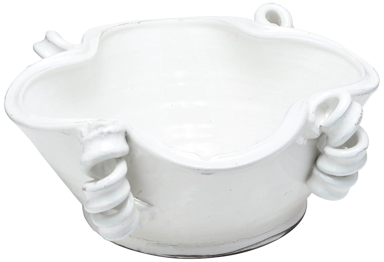 Abigails Vinci Centerpiece Bowl, 14.5 by 14.5 by 6.75-Inch, White 717343